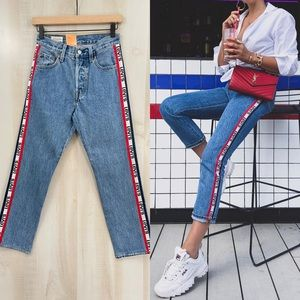 New Levi's 501 Original Cropped Jeans High Rise